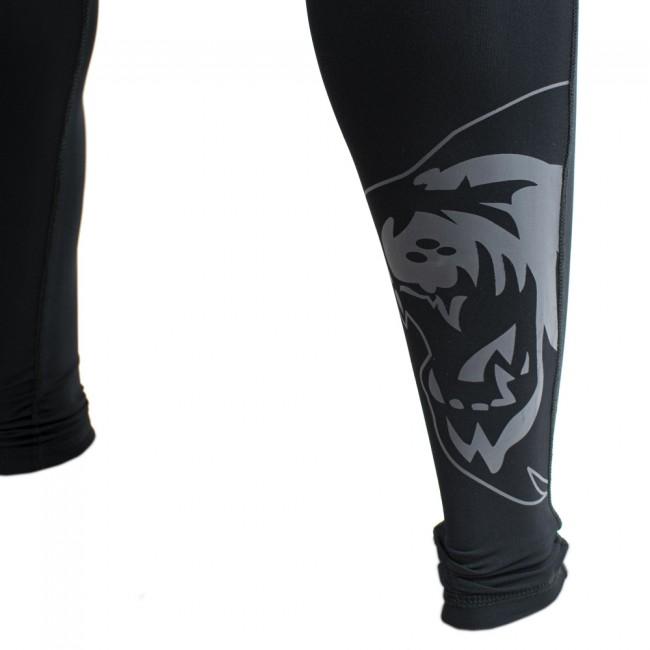 Super Pro Legging Men Lion/Super Pro Logo Zwart/Grijs-312145