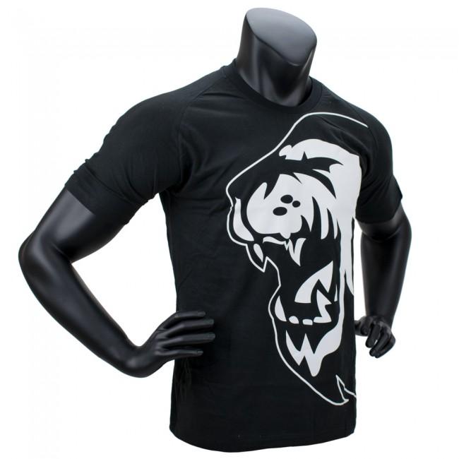 Super Pro T-Shirt Lion Logo - Katoen - Zwart/Wit-0