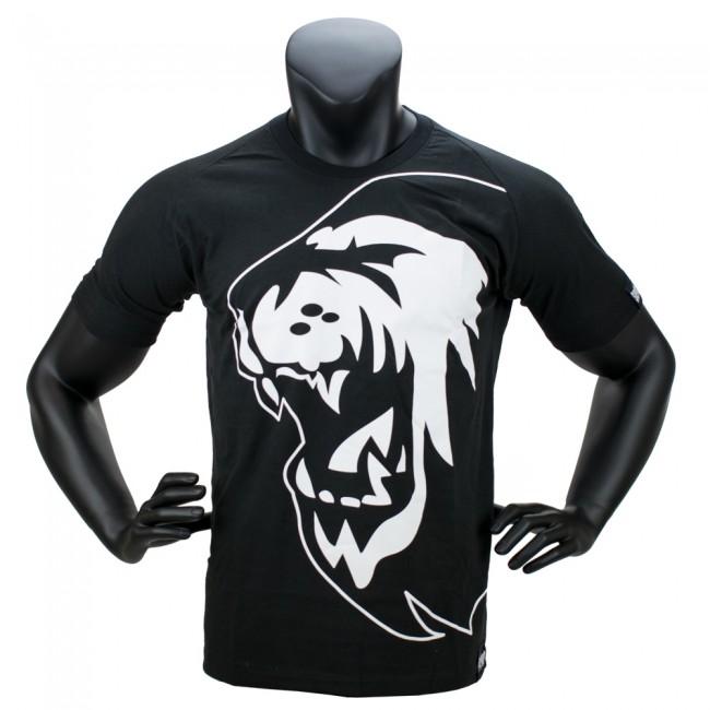 Super Pro T-Shirt Lion Logo - Katoen - Zwart/Wit-530348