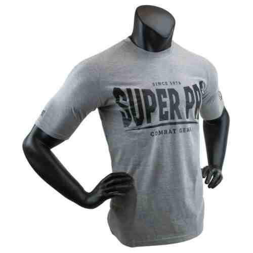 Super Pro T-Shirt S.P. Logo Grijs/Zwart - jokasport.nl