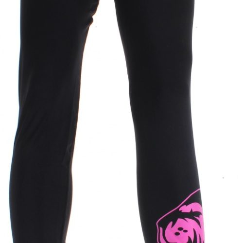 Super Pro Legging Women Lion/Super Pro Logo Zwart/Roze-0