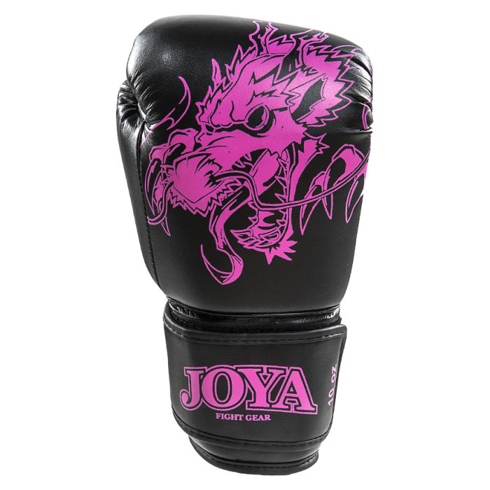 Joya Dragon Kickbokshandschoenen PU - Zwart Roze - jokasport.nl