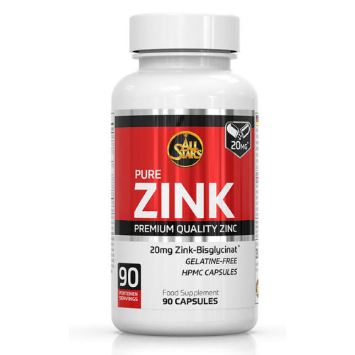 All Stars Pure Zink Supplement 90 porties - jokasport.nl