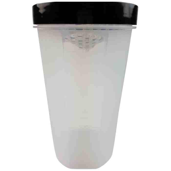 Tunturi Protein Shaker - Shakebeker met zeef - 700ml - jokasport.nl