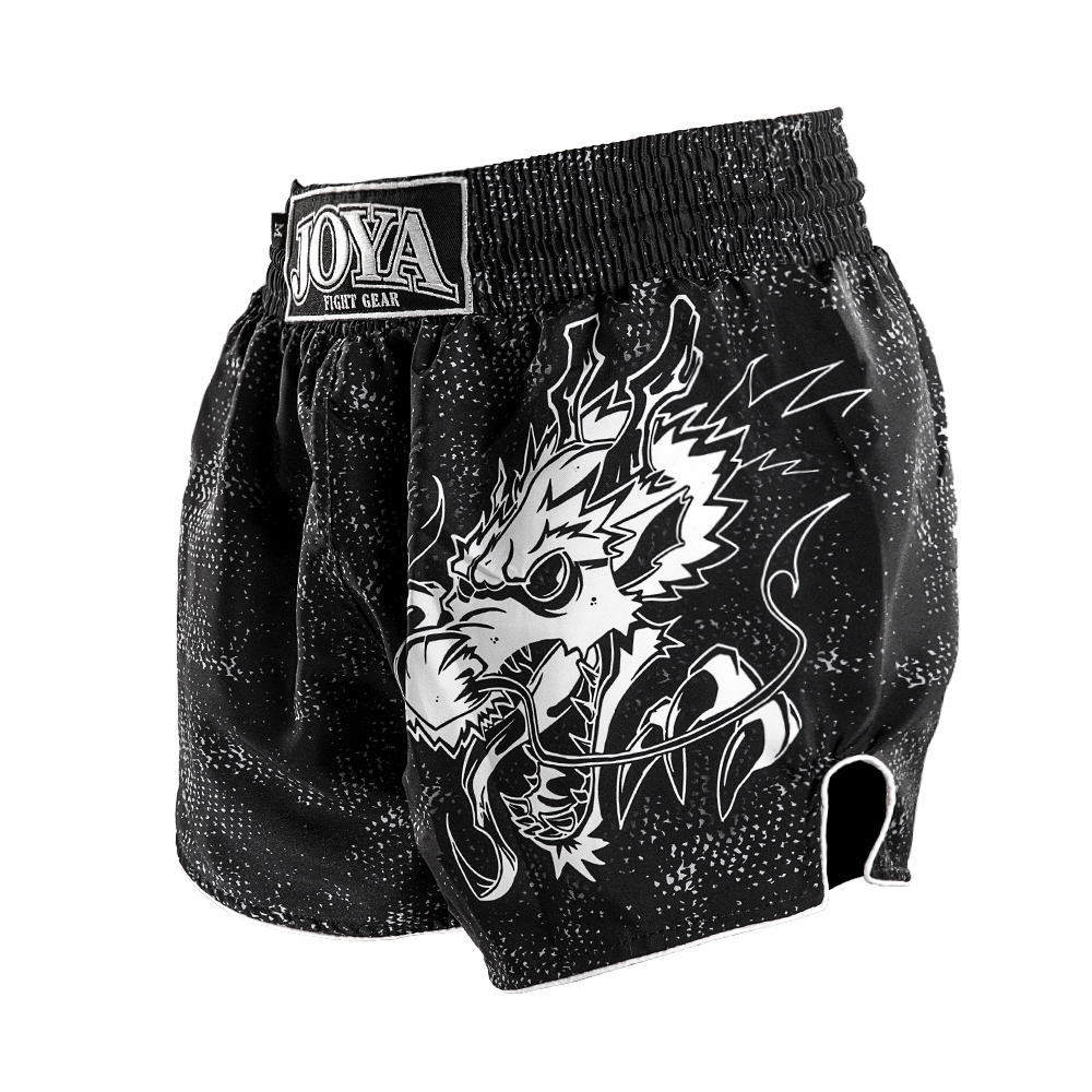Joya Dragon Kickboks Broekje - Zwart - Wit-541954