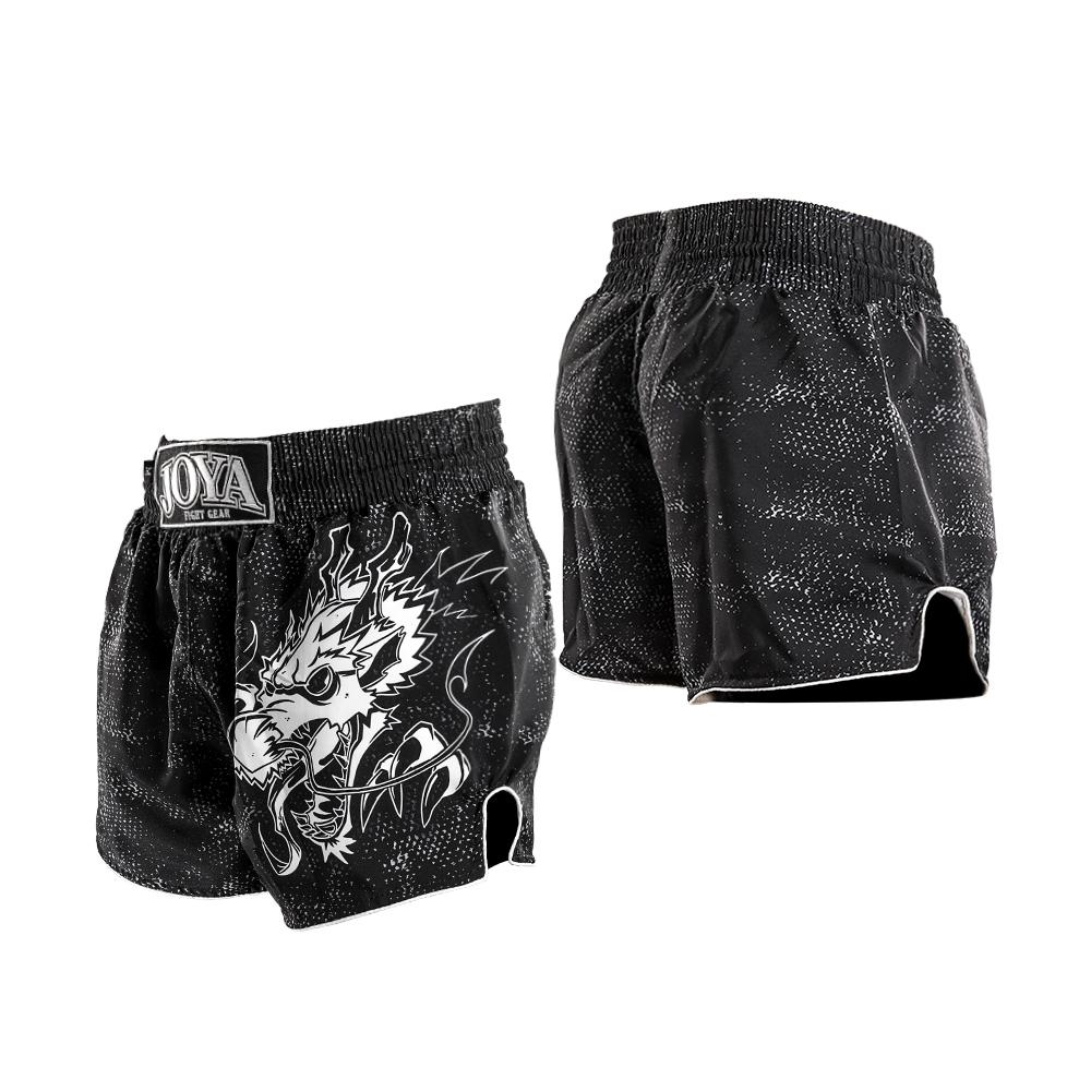 Joya Dragon Kickboks Broekje – Zwart – Wit-541957
