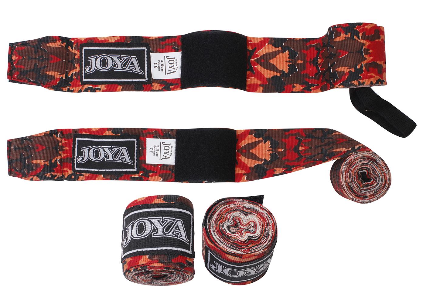 Joya Camouflage Bandages - Katoen - 350cm - Rood - jokasport.nl