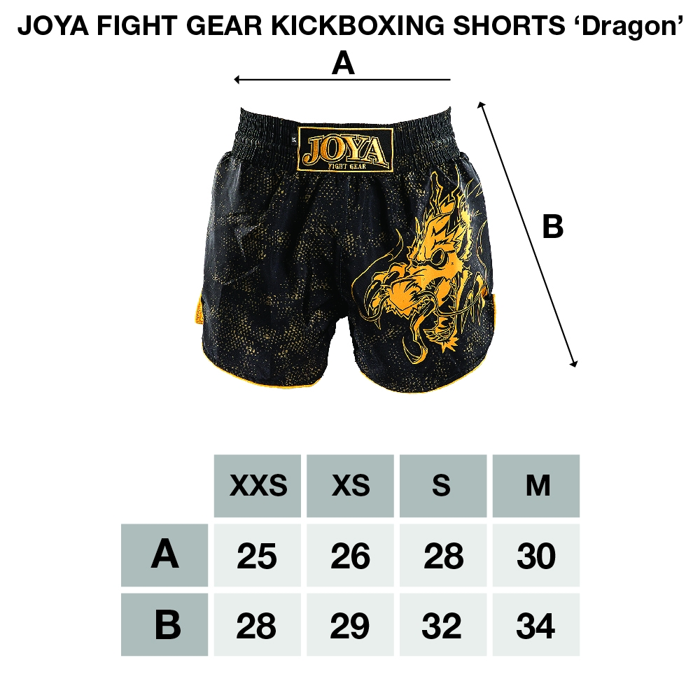 Joya Dragon Kickboks Broekje – Zwart – Wit-541959