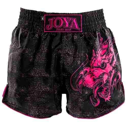 Joya Dragon Kickboks Broekje - Zwart - Roze - Jokasport.nl