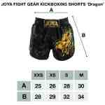 Joya Dragon Kickboks Broekje – Zwart – Rood-541945