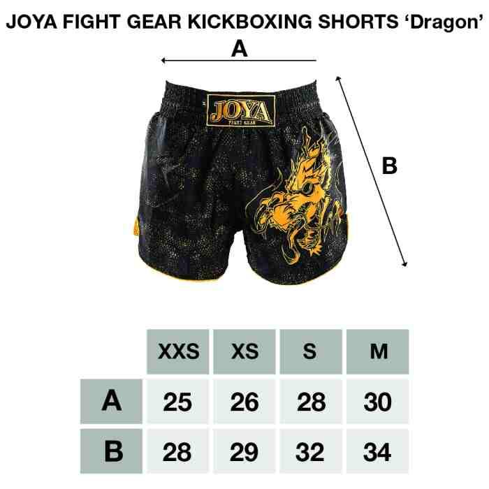 Joya Dragon Kickboks Broekje - Zwart - Roze-541952