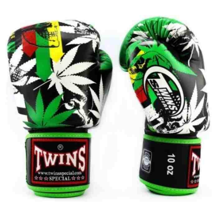 Twins Fantasy 3 Bokshandschoenen - Rood - Groen - Geel - wiet - cannabis