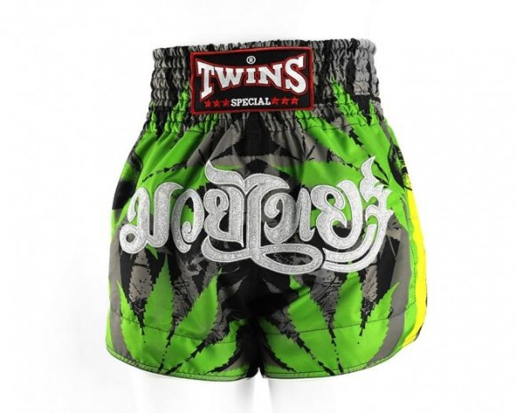 Twins TTBL 79 Kickboks Broekje - Rood - Groen - Geel - Wiet - Cannabis - jokasport.nl