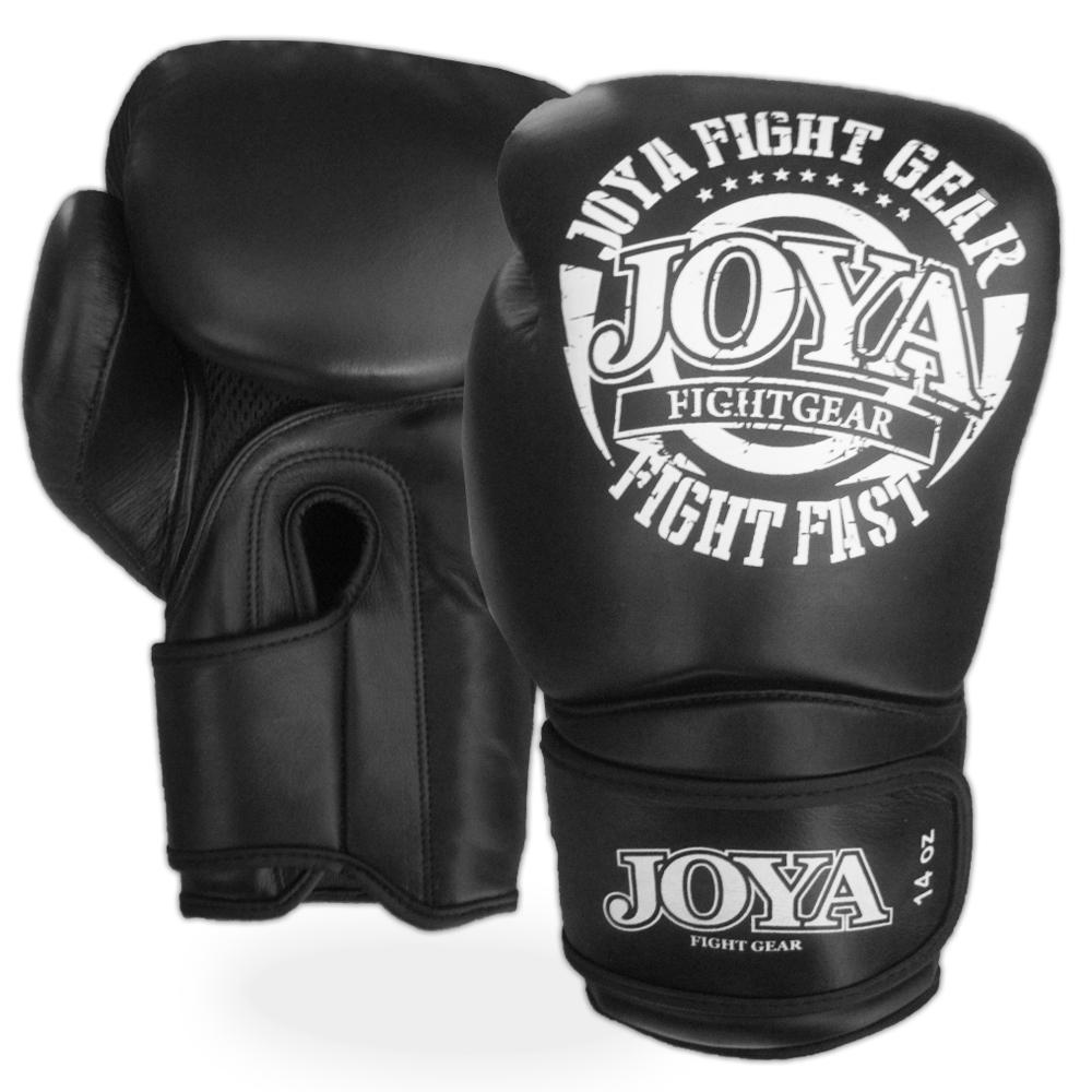 Joya Fight Fast Bokshandschoenen Leer - Zwart/Wit-0