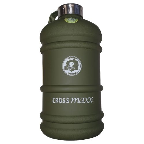 Crossmaxx Waterfles- The Tank - Bidon - 2 Liter - Legergroen - jokasport.nl