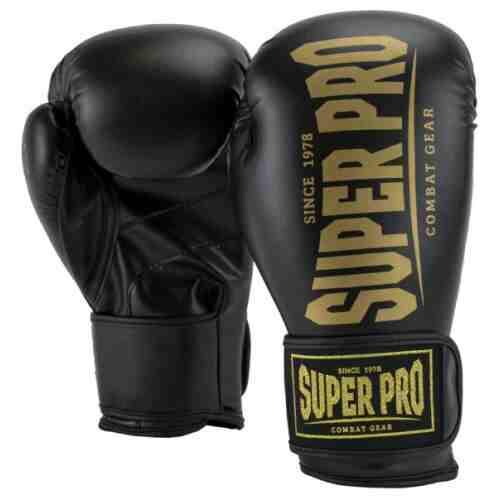 Super Pro Champ Bokshandschoenen Zwart/Goud-0