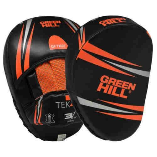 Green Hill TEK7 Handpads - Stootpads - PU - per paar -Oranje-0