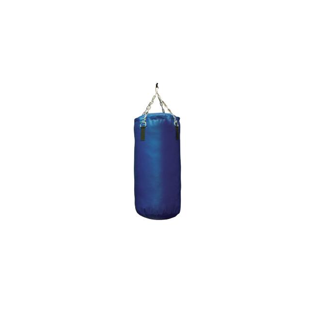 Bokszak - Bisonyl - Blauw - Gevuld en met ketting 100 cm jokasport.nl