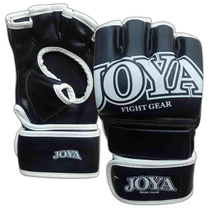 Joya MMA Handschoenen Grip - Kunstleer - Zwart met wit jokasport.nl