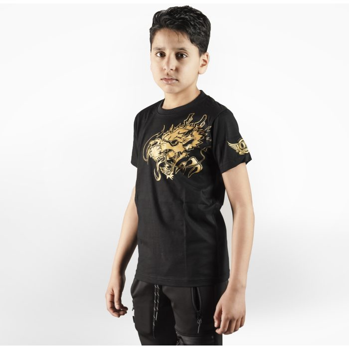 Joya T-Shirt Gouden Draak - Kinderen - Katoen - jokasport.nl