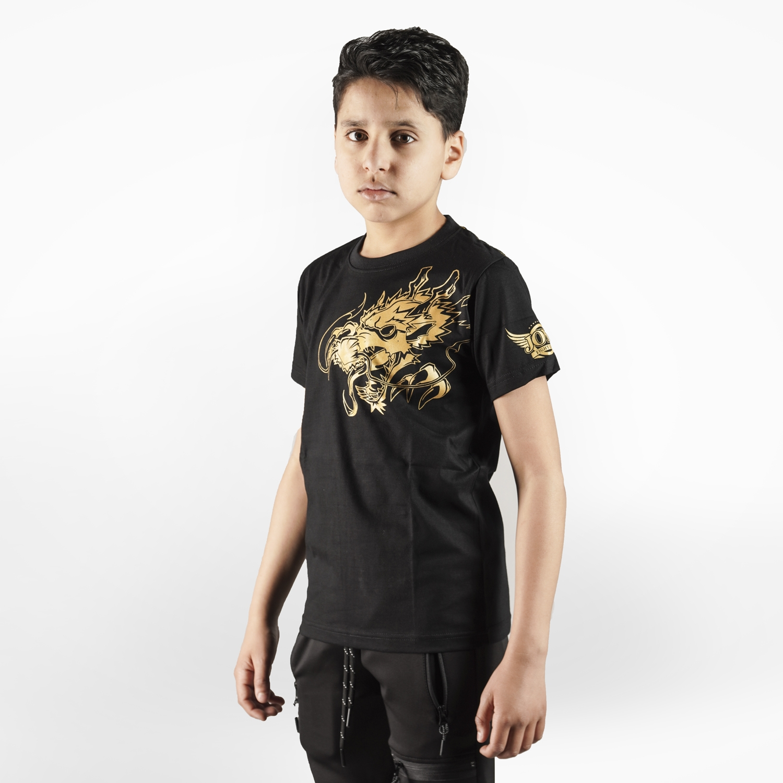 Joya T-Shirt Gouden Draak – Kinderen – Katoen – jokasport.nl