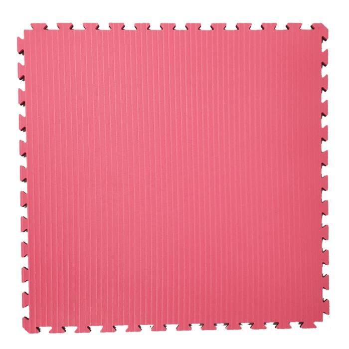 Sportmat - Puzzelmat 100 x 100 x 2 cm - Zwart - Rood - jokasport.nl