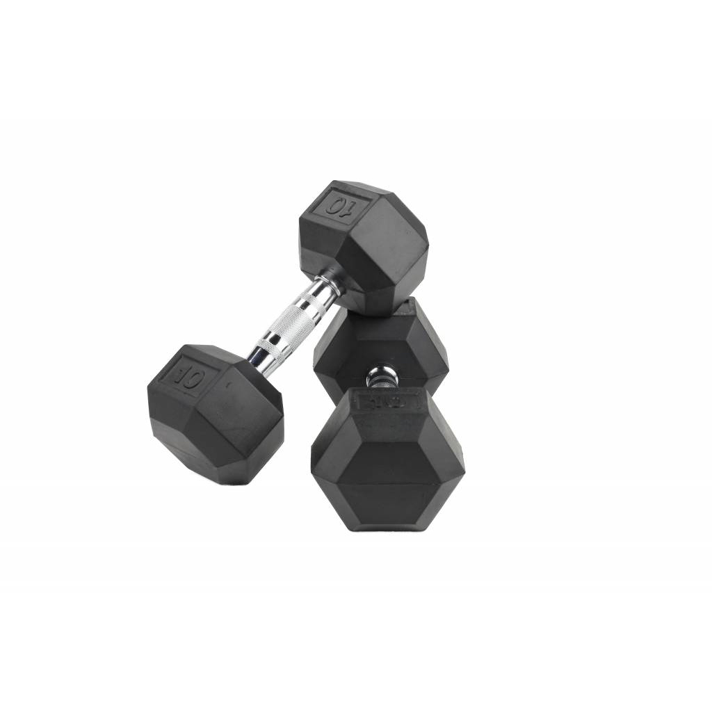 LMX Hexagon Dumbbellset - per 2 stuks - Rubber - 5 kilo jokasport.nl