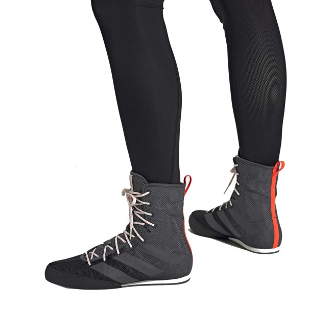 Adidas Box Hog 3 Boksschoenen – Zwart – Grijs – Oranje-534389