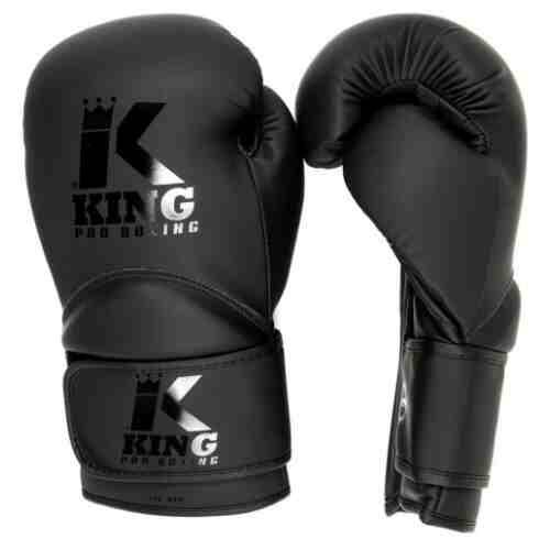 King Bokshandschoenen Kids 3 - PU - Zwart-0