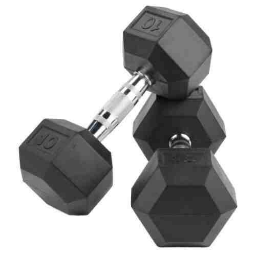 LMX Hexagon Dumbbellset - per 2 stuks - Rubber - 7.5 kilo-0