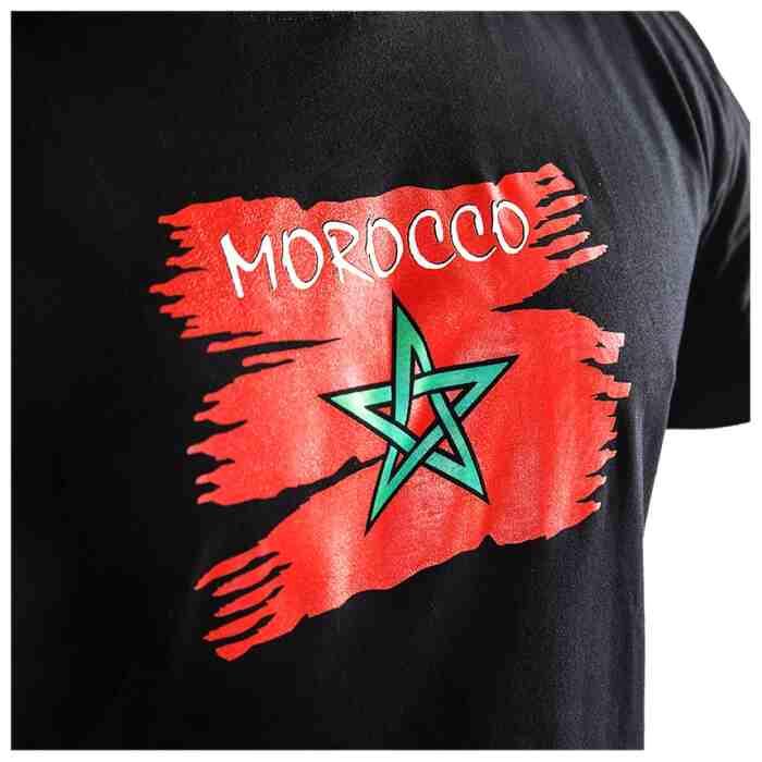 Joya Vlag T - Shirt - Marokko - Zwart-542002