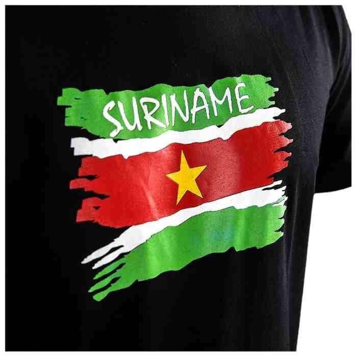 Joya Vlag T - Shirt - Suriname - Zwart-542010