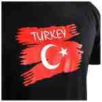 Joya Vlag T – Shirt – Turkije – Zwart-541995