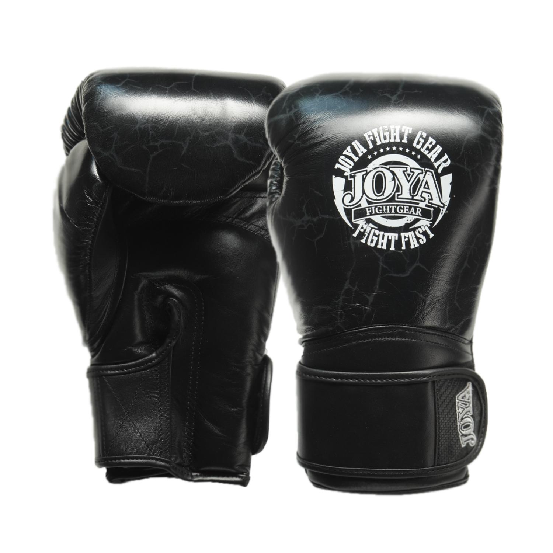 Joya Thailand – Fight Fast Kickbokshandschoenen – Leer – Marmer Zwart-0