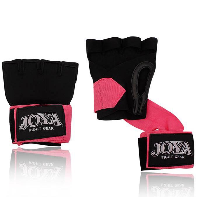 Joya Binnenhandschoen Gel Power Zwart+roze-0