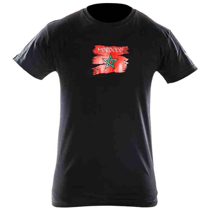 Joya Vlag T - Shirt - Marokko - Zwart-542008