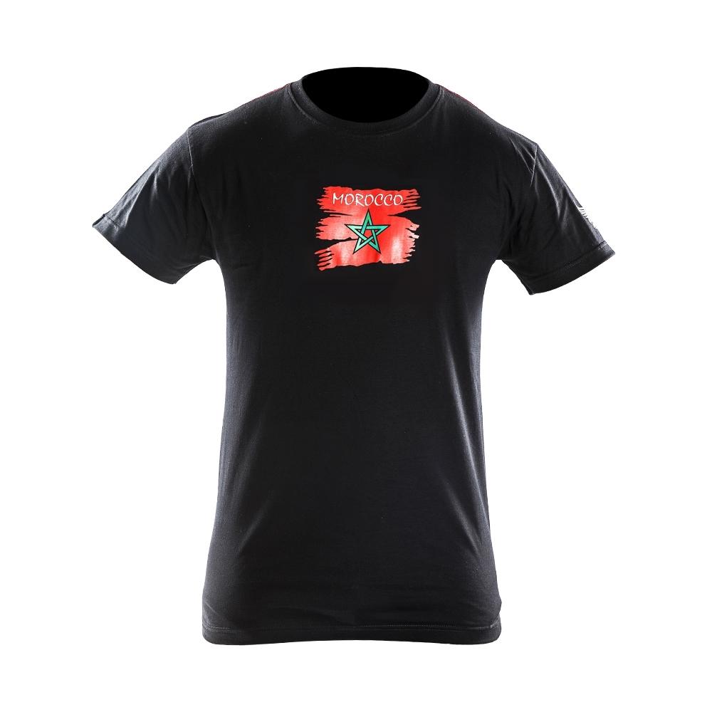 Joya Vlag T – Shirt – Marokko – Zwart-542008