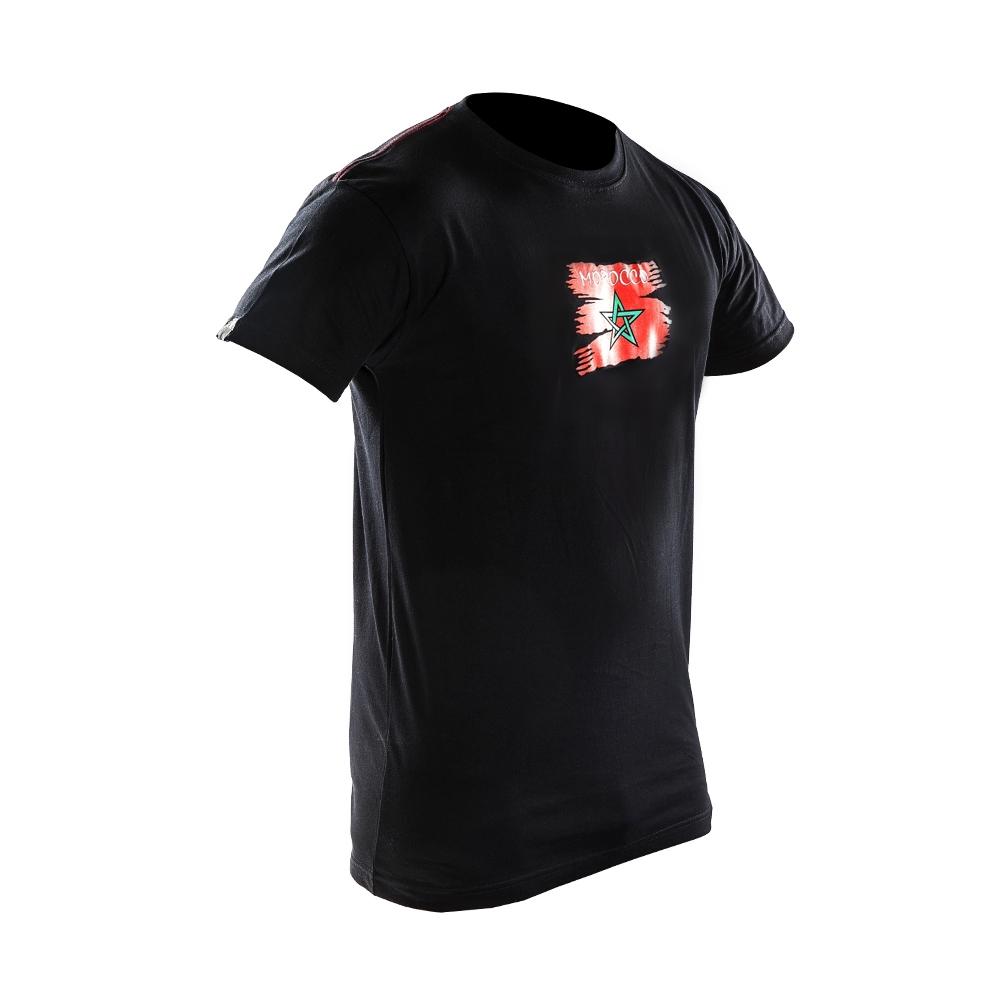 Joya Vlag T - Shirt - Marokko - Zwart-0