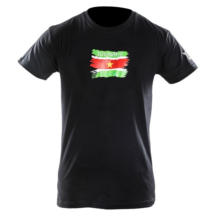 Joya Vlag T - Shirt - Suriname - Zwart-542017