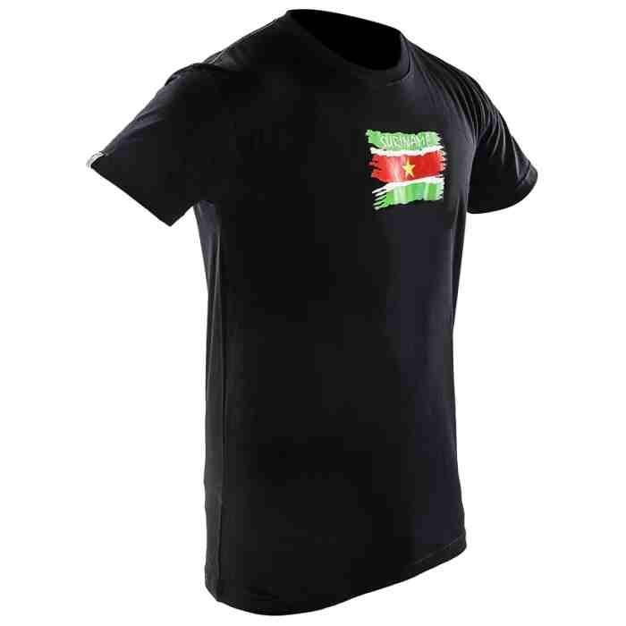 Joya Vlag T - Shirt - Suriname - Zwart-0