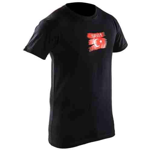 Joya Vlag T - Shirt - Turkije - Zwart-0