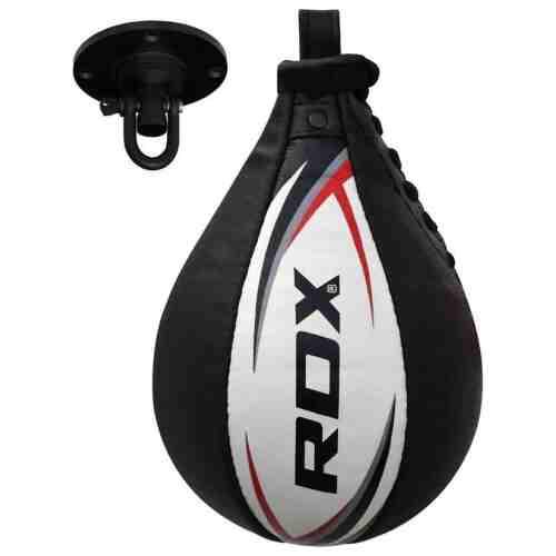 RDX Sports lederen Speedbal - Speed Bag - Zwart / Wit-0