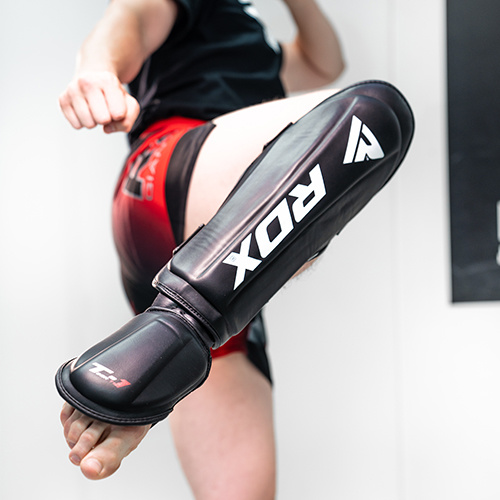 RDX Sports Shin Instep Molded KING - Zwart-535858