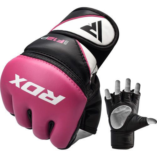 RDX Sports Grappling Gloves Model GGRF-12 - Roze-0