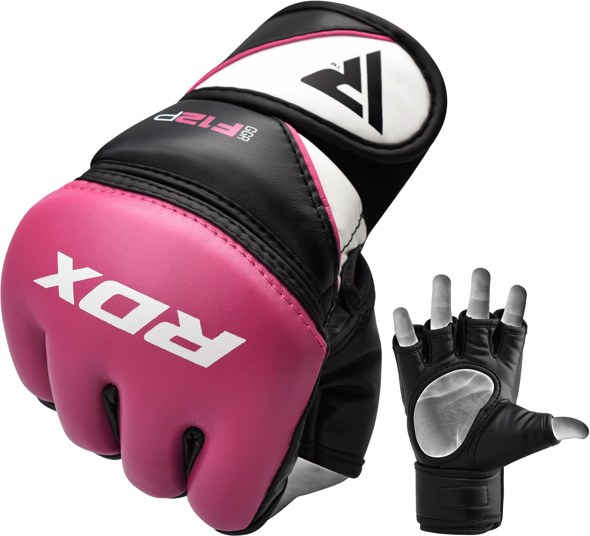 RDX Sports Grappling Gloves Model GGRF-12 - Roze-0