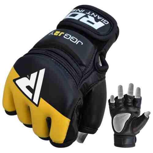 RDX Grappling Gloves Kids - Zwart met geel-0