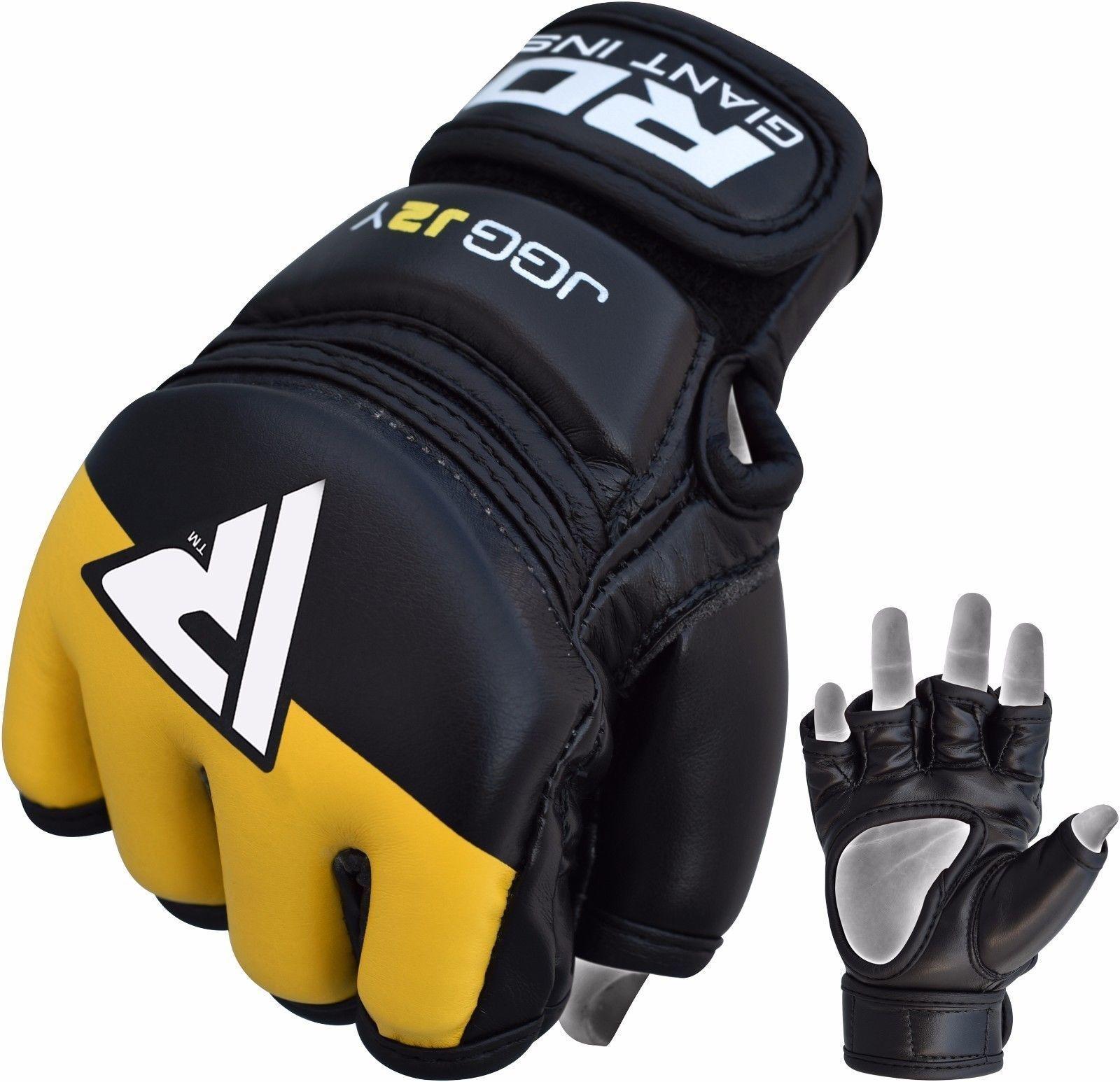 RDX Grappling Gloves Kids – Zwart met groen-538690