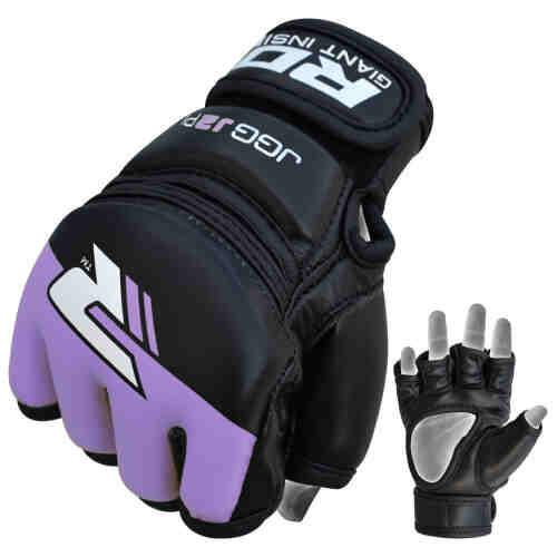 RDX Grappling Gloves Kids - Zwart met paars-0