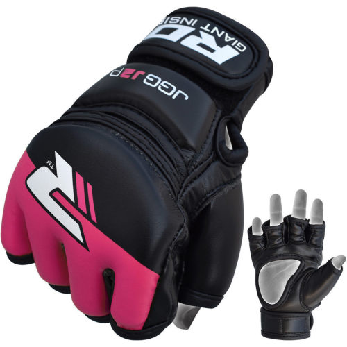 RDX Grappling Gloves Kids - Zwart met roze-0
