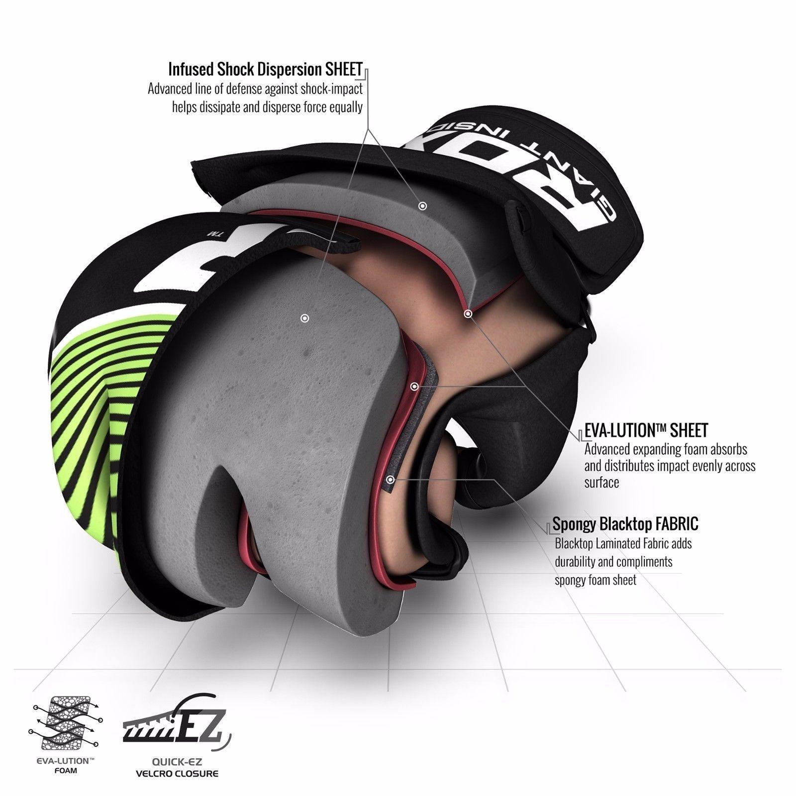 RDX Grappling Gloves Kids - Zwart met groen-538691